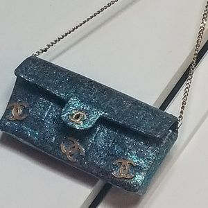 Authentic Chanel jewelled flap bag